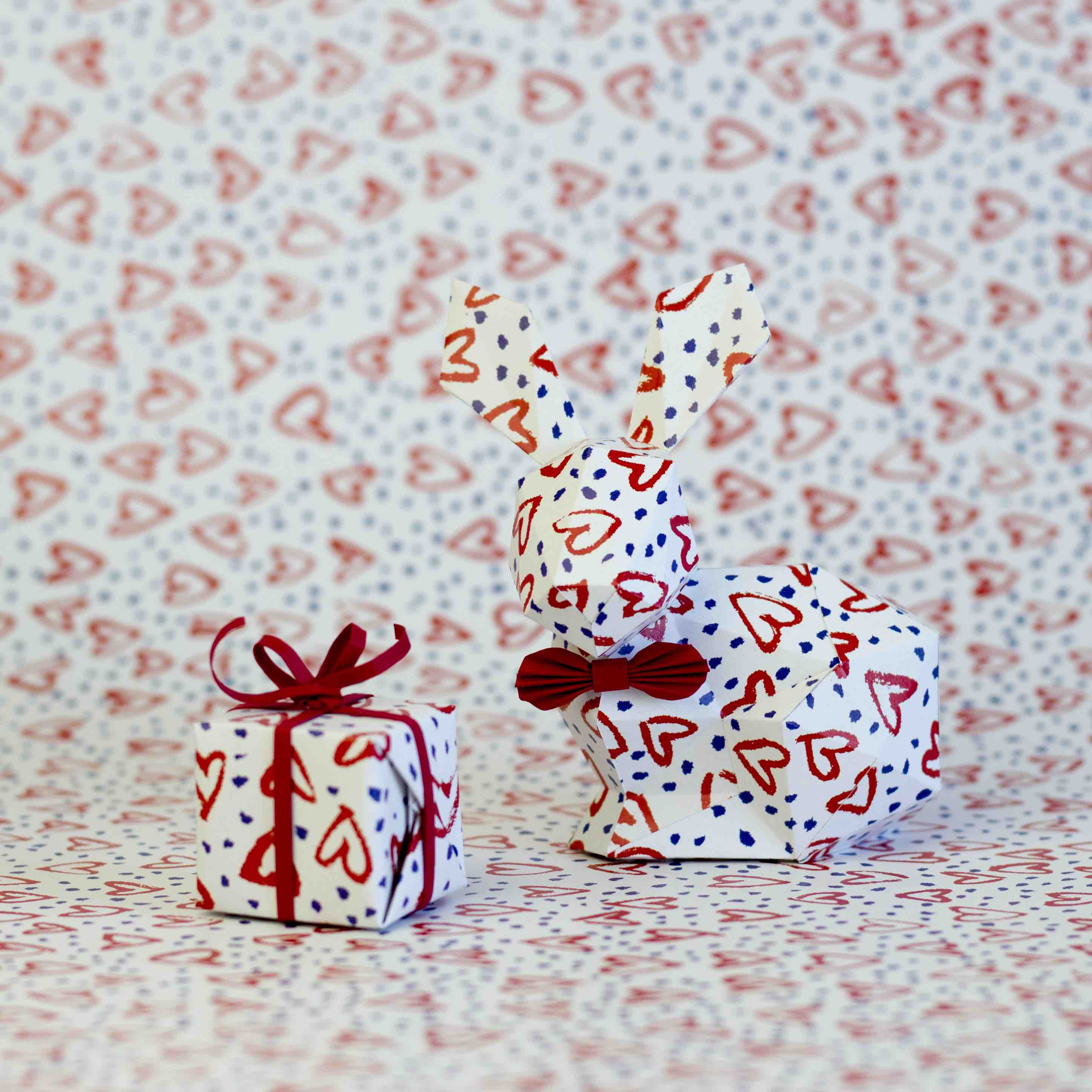 Interview IMPRESSION ORIGINALE Surgeon Paper Déluge de coeur lapin cadeau