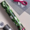 Look gift wrap Swimming in the Water Lillies and fluo pink string 2,5m