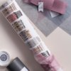 """Paired of Organza ribbon with roll of gift wrap """"the first page of my sketchbook"""" by Impression Originale"""