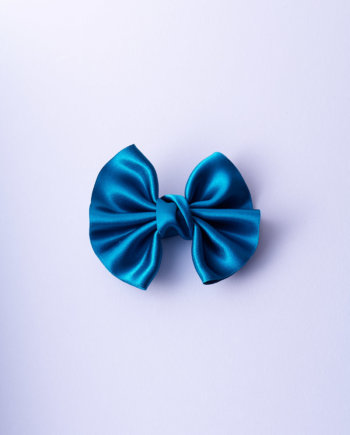 Teal Satin Winged Bow n°269 size L by IMPRESSION_ORIGINALE