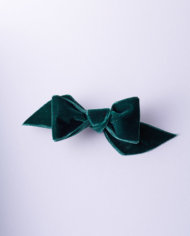 NVEL228VER50_Dark Green Velvet Tuxedo Bow n°228_L_IMPRESSION_ORIGINALE