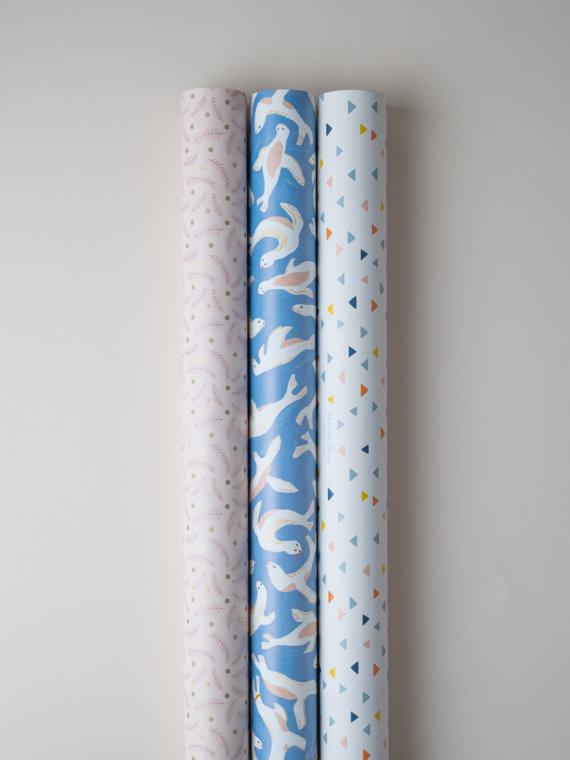 Nap time x3 gift wraps by Impression Originale