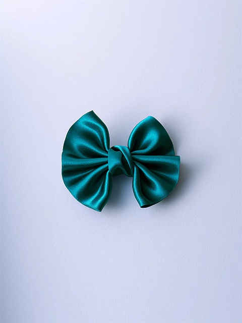 Dark Green Satin Winged Bow ready-to-use by Impression Originale