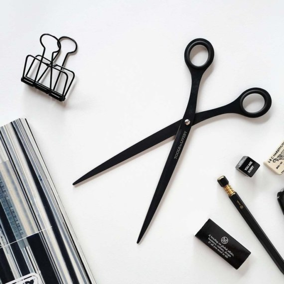 """Black scissors long 9"""" by Tools to Liveby for IMPRESSION ORIGINALE"""